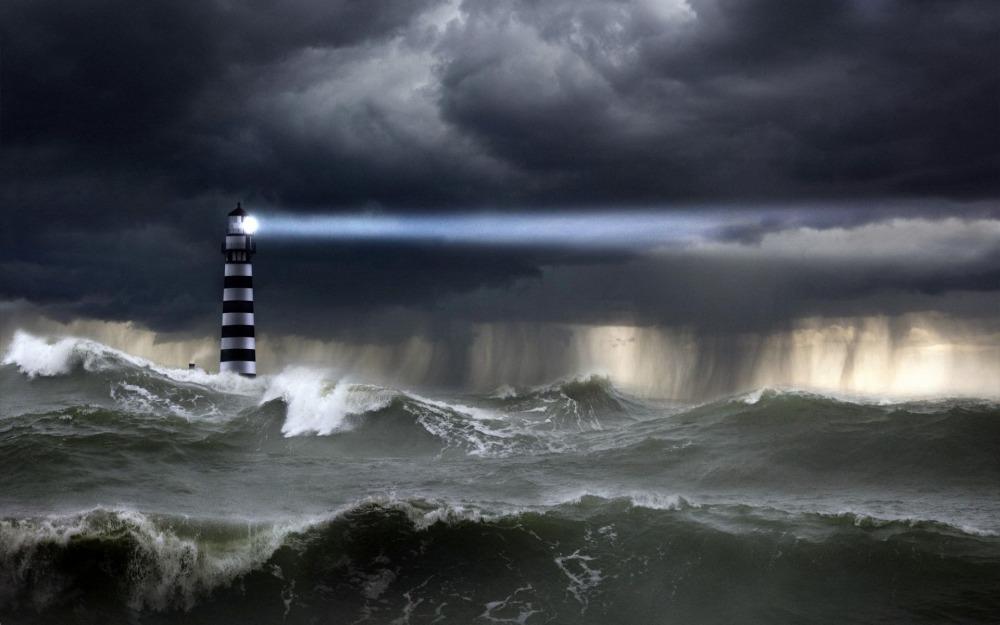 lighthouse-storm